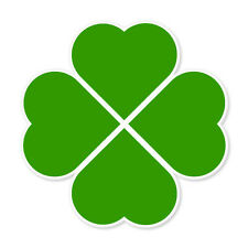 "Four Leaf Clover Irish Ireland car bumper sticker 4"" x 4"""
