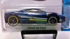 2014 Hot Wheels Ferrari 458 Italia in Blue 35/250
