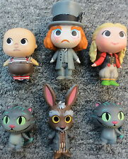 Lot of 6 Loose Alice Through The Looking Glass Funko Mystery Minis Figures *NM*