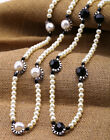 N894 Betsey Johnson Shimmering Pearl Flower Brides Wedding Victorian Necklace US