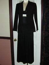 Breakin Loose/Byer Too Women 2 Pc Outfit Black Blazer Dress Smart Business NICE!