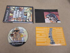 PS2 Playstation 2 Pal Game GRAND THEFT AUTO SAN ANDREAS with Box Instructions Ma