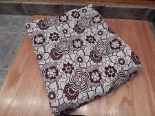 CONTEMPORARY HOME QUEEN FLAT SHEET, BROWN DESIGN ON WHITE , NICE