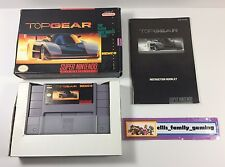 Top Gear 1 Super Nintendo SNES 1992 Complete CIB Cleaned Works Great Ships Fast