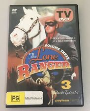 DVD LONE RANGER, THE VOL 3 ALL ZONES PAL CLASSIC TV SERIES Clayton Moore Rare