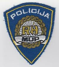 Old vintage patch - REPUBLIC of CROATIA  REGULAR POLICE MUP RH - sleeve patch !