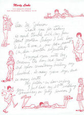 1966 AUTOGRAPH LETTER SIGNED by MARTY LINKS - Cartoonist EMMY LOU & BOBBY SOX