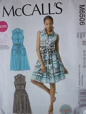 NEW McCALLS BUTTON THROUGH DRESS SEWING DRESSMAKING PATTERN