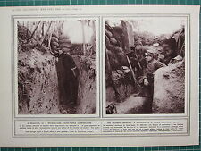 1915 WWI WW1 PRINT ~ DRAIN-PIPE AS SPEAKING TUBE TRENCHES ~ PERISCOPE HYPOSCOPE