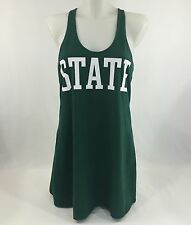Victoria's Secret Pink Michigan State Spartans Dress Cover Up Nightie Sz Small