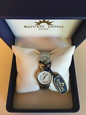 ROVEN DINO WOMEN'S SWISS WATCH BRAND NEW WITH 5 YEAR WARRANTY Crystal 6014LSS15