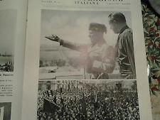 L'illustrazione italiana 1935 Mussolini in Sardegna Cagliari 30 divis. sabauda