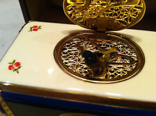 Reuge Music Rare French Porcelain Mechanical Singing Bird Box