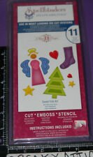 SPELLBINDERS SWEET FOLK ART 11 SHAPEABILITIES CUT EMBOSS STENCIL NIP