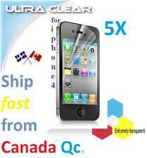 5X ULTRA clear screen protector Apple iphone 4 4s iPHONE4 film guard Transparent