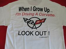 "ADULT ""WHEN I GROW UP"" CORVETTE T-SHIRT  X-Large or XX-Large"