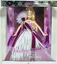 New In Box 2005 Bob Mackie Holiday Collector Barbie - Caucasian with Pink Dress