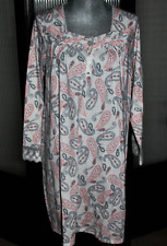 ARIA Medium PAISLEY NightGown NWT Msrp $54