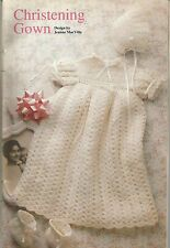 CROCHET PATTERN FOR A BABY CHRISTENING GOWN DRESS, BONNET & BOOTIES