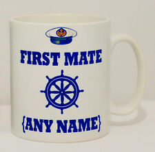 Ceramic First Mate Mug Can Be Personalised Canal Boat Narrowboat Barge Gift