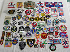 Lot of 65 + Patch Patches Police Fire Fitness NASA NRA Babe Ruth Red Cross ++