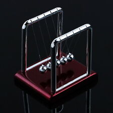 Newtons Cradle Steel Balance Balls Desk Physics Science Pendulum Desk Toy RD