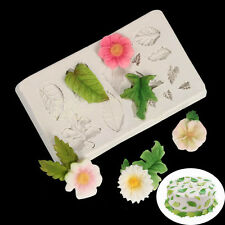 3D Silicone Leaves Fondant Mould Baking Sugarcraft Candy Cake Decorating Mold