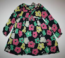 New Next UK Navy Blue with Pink & Yellow Flower Print Dress 5 6 year 116cm NWT