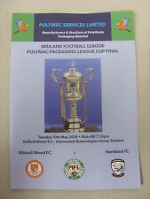 10/05/2016 Midland League, League Cup Final: Walsall Wood FC v Hereford FC