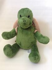 "16"" BUILD A BEAR GREEN TURTLE BACKPACK SHELL PURSE BAG STUFFED ANIMAL PLUSH"