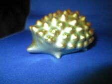 Zsolnay Green Eosin Hedgehog Figurine
