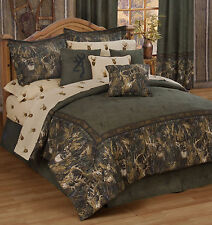 Browning Whitetails Comforter Set Rustic Lodge & Cabin Kimlor King Bedding