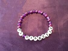 T1 Diabetic SOS Medical Warning Bracelet - choice of colour and size