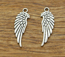20pcs Wing Charm Antique Silver Tone Bird Angel Wing Charms 11x34mm 2109