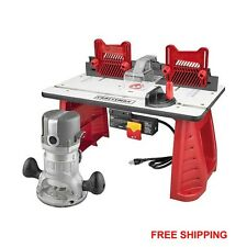 Craftsman Router and Router Table Combo lumber woodworking aluminum base NEW