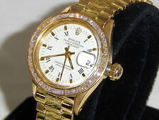 ROLEX LADIES 6517 W/DIAMOND BAND BEZEL & MORE VERY NICE