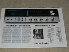Harman Kardon 730 Receiver Ad, 1973, 2 pages, Specs, Inside View, Twin Powe