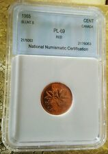 """1965 Canada 1 Cent """" RED """" Uncirculated High Grade Penny"""