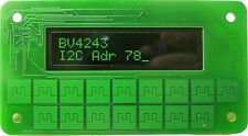 I2C Keypad Front Panel for Arduino, Raspberry Pi, Green 16x2 LCD and 16 keypad