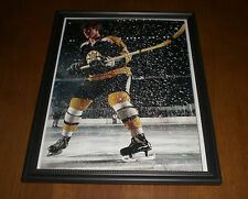 1970 BOSTON BRUINS BOBBY ORR FRAMED COLOR PRINT