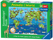 07072 RAVENSBURGER ANIMALS OF THE WORLD 60PC FLOOR PUZZLE  [CHILDREN'S JIGSAW]