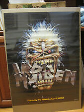 IRON MAIDEN Ready to rock april 6th! rock n roll original Poster 490