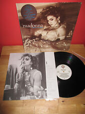 MADONNA GREEK LP LIKE A VIRGIN + BIG GREEK BLUE STICKER ANGEL DRESS YOU UP STAY