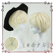Japanese Vintage Gothic Harajuku Sweet Lolita Gold Short Men's Cosplay Wig