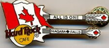 "Hard Rock Cafe NIAGARA FALLS CAN 1998 White DN Flag Guitar PIN 6656 ""ALL IS ONE"""