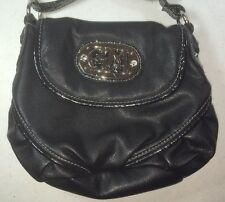 Gia Mila Black Faux Leather Purse Zebra Lined - Teen Size