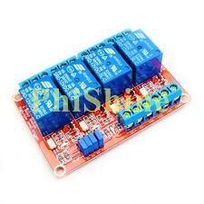 12V 4 Channel Relay Module With OPTO-Isolated Support High Low Level Trigger
