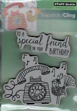 New Cling Penny Black RUBBER STAMP SPECIAL FRIEND BIRTHDAY PHONE FREE USA SHIP