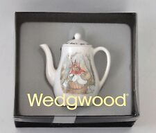 Wedgwood Barlaston Beatrix Potter Peter Rabbit MINIATURE TEA POT New in Box RARE