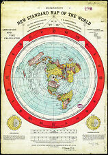 Flat Earth Map Gleason map A1 1892  Scientifically and Practically Correct
